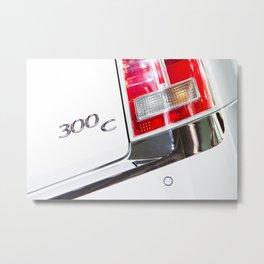 Chrysler 300C Back Light Metal Print