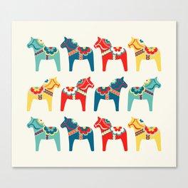 Swedish Horses Canvas Print