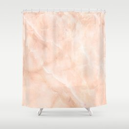 Pale Pink Marble Shower Curtain