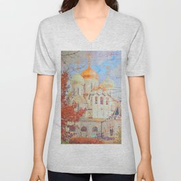 The Nativity of the Blessed Virgin Cathedral in the Conception Convent Unisex V-Neck