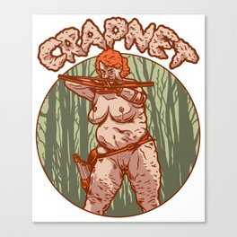 CRAPNET- The Archeress Canvas Print