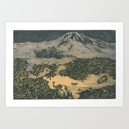 shroom on venus Art Print