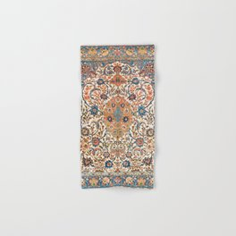 Isfahan Antique Central Persian Carpet Print Hand & Bath Towel