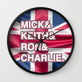 Rock and roll legends | for rock and roll fans | British Rock Wall Clock