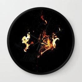 Home fire Wall Clock