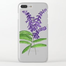 Mexican sage Clear iPhone Case
