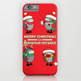 Christmas hedgehogs 2020. iPhone Case