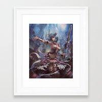 atlas Framed Art Prints featuring Atlas by YuChengHong