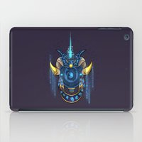 warcraft iPad Cases featuring Blue Dragonflight Crest by Falling Stardusk