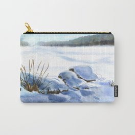 A Winter Study In Blues Carry-All Pouch