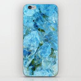Blue Crystal Geode Art iPhone Skin