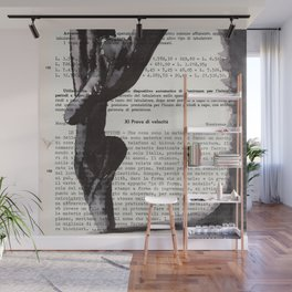 On toes - ink drawing Wall Mural