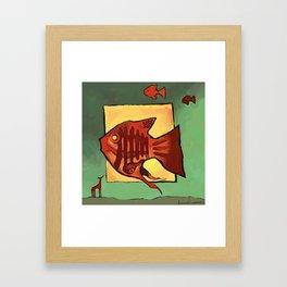 Sometimes i wonder how the fish works Framed Art Print