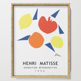 Henri Matisse Exposition Cover, 1956 Artwork Reproduction Serving Tray