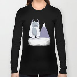 Yeti in the Mountains - Blue Long Sleeve T-shirt