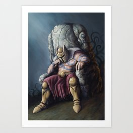 The lost King Art Print