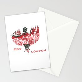 Red London Stationery Cards