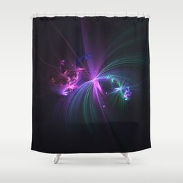 Fireworks Fractal Shower Curtain