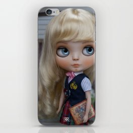 Erregiro Blythe Custom Doll Anita Going to School iPhone Skin