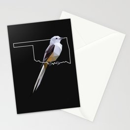 Oklahoma – Scissor-Tailed Flycatcher (Black) Stationery Cards