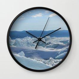 Pressure Ridges of Ice Lake Wall Clock