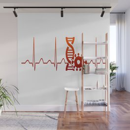 Biologist Heartbeat Wall Mural