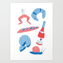 French Food  Art Print