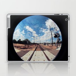 textured tracks circle Laptop & iPad Skin
