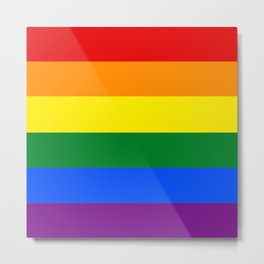 Pride Rainbow Stripes Metal Print