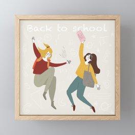 Back to school fall fun Framed Mini Art Print