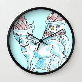 Frosty Photo Bomb Wall Clock