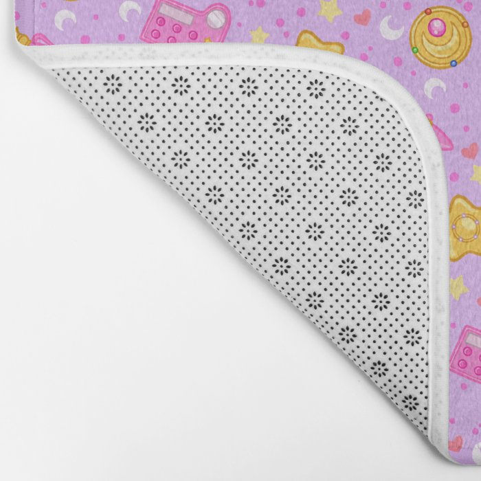 Usagi's Items Pattern / Sailor Moon  Bath Mat