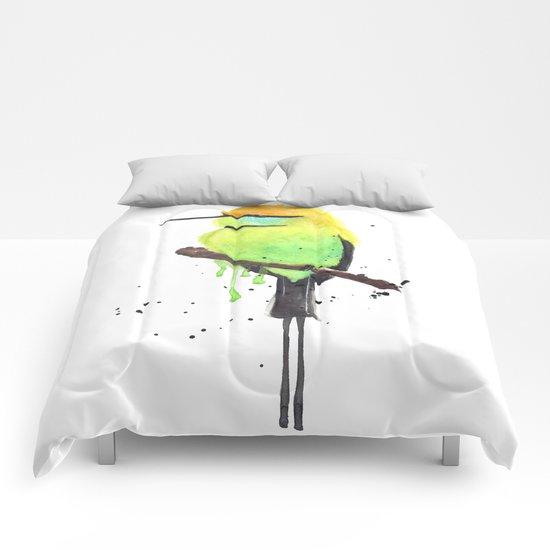 Green Bee eater Comforters