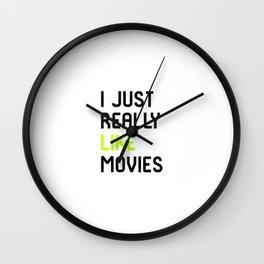 I Just Really Like Movies Film School Wall Clock