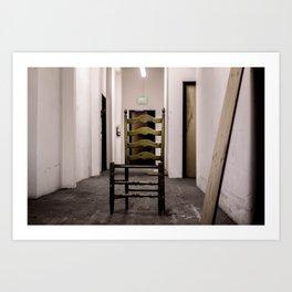 creepy chair Art Print