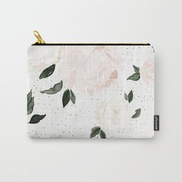 vintage blush floral Carry-All Pouch