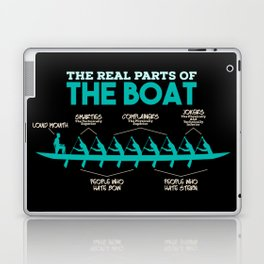 Funny Rowing Gifts - The real parts of the boat Laptop & iPad Skin