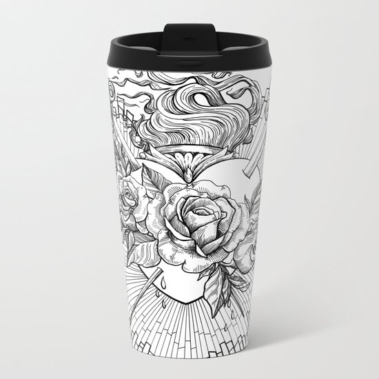 Sacred Heart Metal Travel Mug