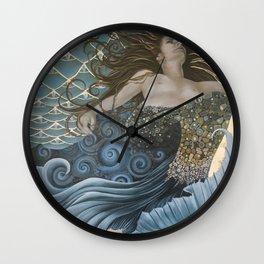 Mermaid Bliss Wall Clock