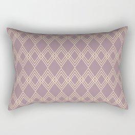 The Bohemian (dusty mauve-cream) Rectangular Pillow