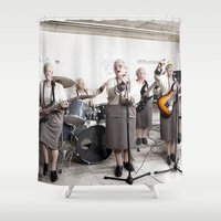 band Shower Curtains featuring Rock Band by Orbon Alija