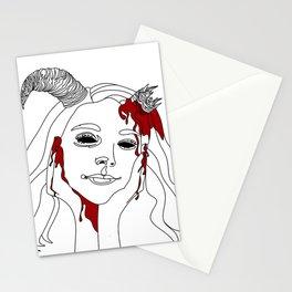 She Ran Into A Wall Stationery Cards