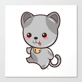 Happy Kitten Kawaii Canvas Print