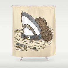 The Mullet Shark Shower Curtain