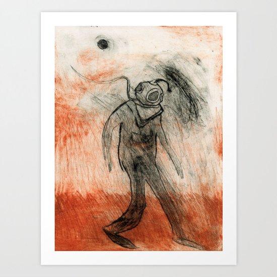 On earth Art Print