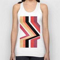 airplanes Tank Tops featuring geometric   by mark ashkenazi