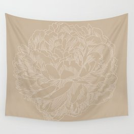 layer upon layer beige Wall Tapestry