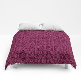 Pink Yarrow Floral Comforters
