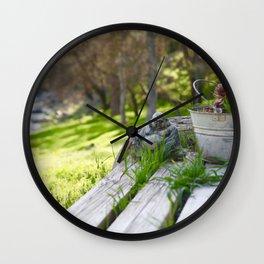 Buddha in Nature Wall Clock