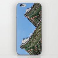 korea iPhone & iPod Skins featuring Gyeongbokgung Palace Lines_South Korea by Jennifer Stinson
